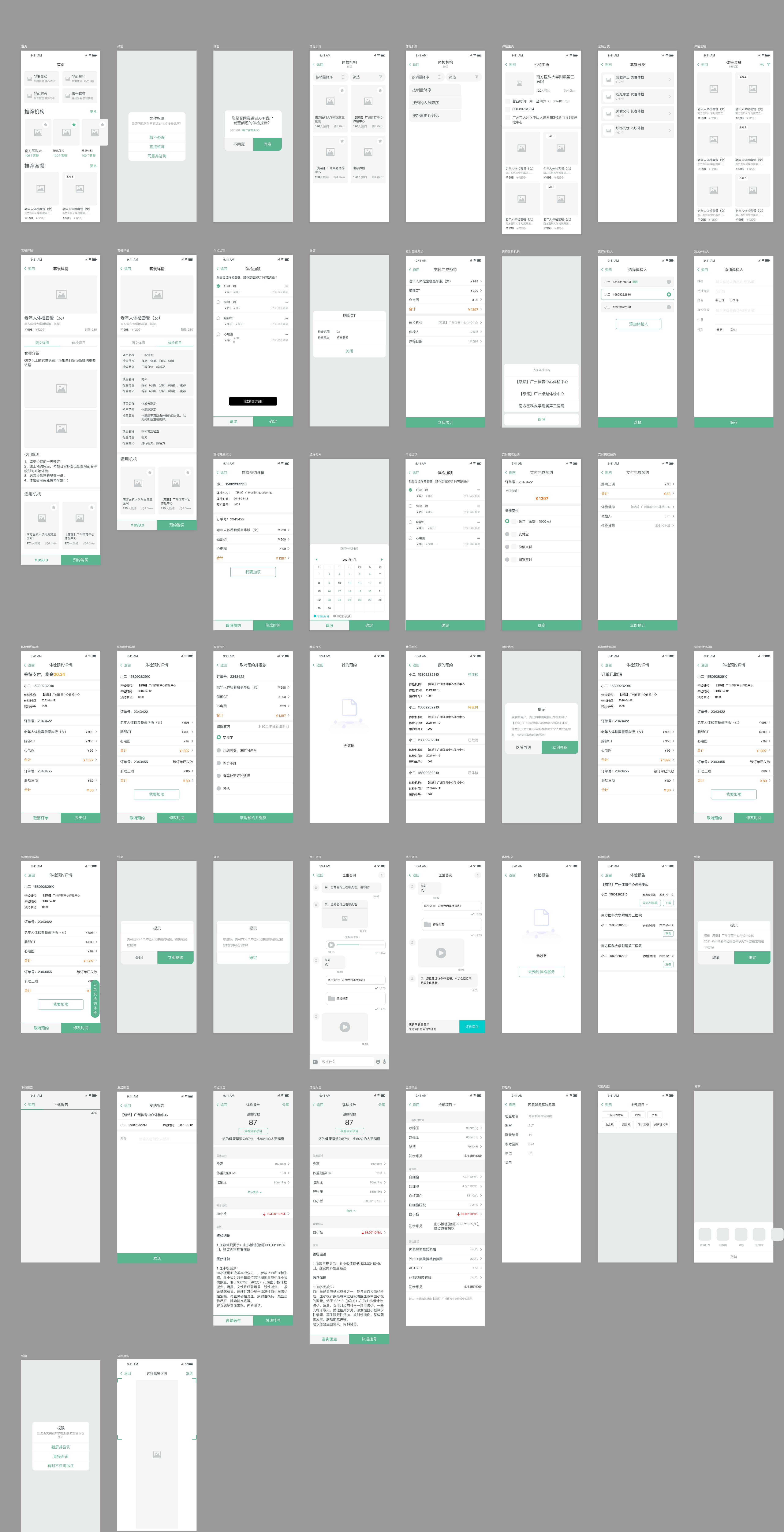 页面线框图
